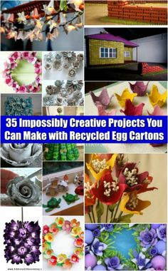 35 Impossibly Creative Projects You Can Make with Recycled Egg Cartons - Brilliant ideas!!