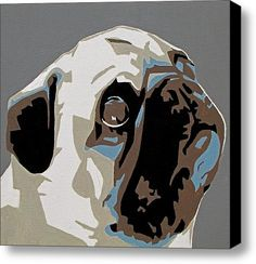 Pug Stretched Canvas Print / Canvas Art By Slade Roberts