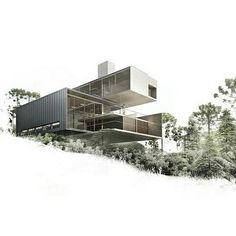 Projeto Residencial by Mario Biselli  #architecture #containerhouse #house #archilovers by renatamourarquiteta