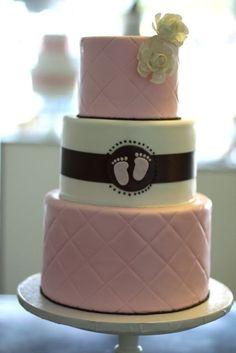 Very Cute Baby Shower Cake (could make blue or pink or yellow if gender is unknown:)