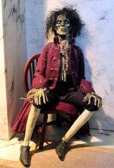 Handmade Billy Butcherson prop from Hocus Pocus by William Bezek. Halloween Graveyard, Halloween Doll, Halloween 2019, Holidays Halloween, Scary Halloween, Halloween Crafts, Halloween Decorations, Halloween Party, Halloween Costumes