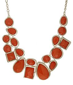 mosaic statement necklace in rust