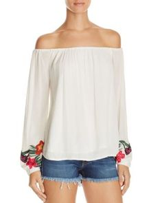 Lovers and Friends Over the Sea Embroidered Off the Shoulder Top | Bloomingdale's