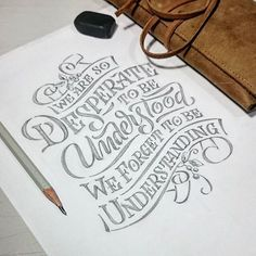 Hand lettering inspiration on a daily basis! Calligraphy and hand lettering for beginners we provide inspirational and educational content on the art of typography! Visit our website to find out more :) Hand Lettering Quotes, Calligraphy Quotes, Creative Lettering, Types Of Lettering, Calligraphy Letters, Typography Quotes, Typography Inspiration, Typography Letters, Brush Lettering