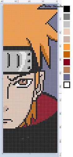 Anime Pixel Art, Art Anime, Otaku Anime, Beaded Cross Stitch, Crochet Cross, Pixel Pattern, Pattern Art, Seed Bead Patterns, Cross Stitch Patterns