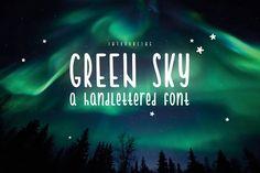 Green Sky by Nathalie Funken on @creativemarket