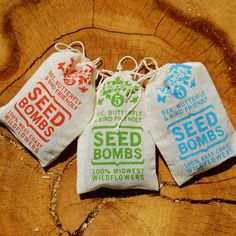 Just throw and go!  These seed bombs by Visualingual of Cincinnati, Ohio, are a fun and interesting way to add a bit of adventure to gardening.