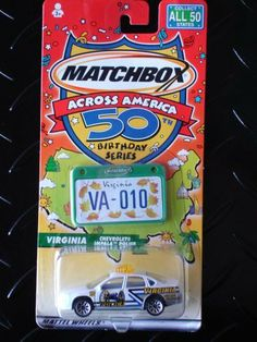 "Matchbox Across America 50th Birthday Series ""Virginia Chevrolet Impala Police"" by Mattel. $5.00. Matchbox Across America 50th Birthday Series : Virigina Chevrolet Impala Police"