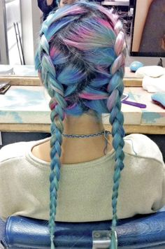 #RainbowBraids Would love to know whodid this cool color and style! #hotonbeauty hotonbeauty.com