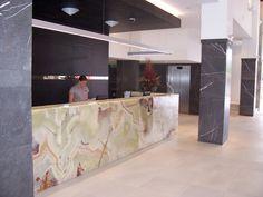 Sea Temple - Pietra Grey Limestone & Light Green Onyx : Commercial Gallery : Gallery : Quantum Quartz, Natural Stone Australia, Kitchen Benchtops, Quartz Surfaces, Tiles, Granite, Marble, Bathroom, Design Renovation Ideas. WK Marble & Granite Pty Ltd Australia.