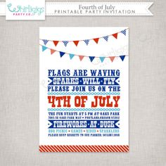 Printable 4th of July Invitation