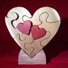 Two Hearts Beating as One Puzzle by PuzzlesnToysnWood on Etsy