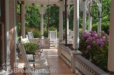 Victorian porch - The Beaufort House Inn Bed and Breakfast - Asheville, North Carolina Porch And Balcony, Home Porch, Diy Porch, Porch Ideas, Door Ideas, Outdoor Rooms, Outdoor Living, Outdoor Decor, North Carolina