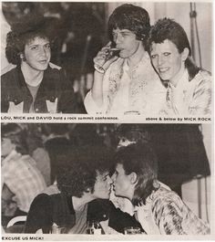 Lou Reed, Mick Jagger and David Bowie by Mick Rock, 1973