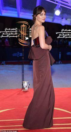 Dakota Johnson dazzles in silky strapless gown Floaty Dress, Peplum Dress, Dakota Johnson Style, Fifty Shades Movie, Style Finder, International Film Festival, Celebs, Celebrities, Strapless Dress Formal