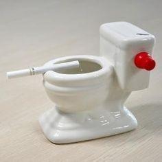 Water Flush Toilet Ashtray