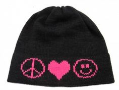 Slam Glam - Butterscotch Blankees Peace Love Happy Hat.  Personalize with a name too!