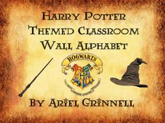 This is a great Harry Potter themed classroom alphabet. The alphabet features Harry Potter characters, objects, spells and magical creatures. It would be a great addition to any classroom!