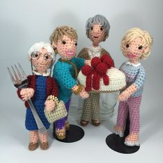 CRAFTYisCOOL: Golden Girls 30th Anniversary! This calls for some Cheesecake! - free crochet pattern for cheesecake and links to for sale Golden Girls crochet pattern on Crafty is Cool