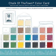 Chalk Of The Town® - Χρωματολόγιο Best Chalk Paint, Chalk Paint Wax, R Colors, Prague Castle, Paris Cafe, Athens Greece, Color Card, Toulouse, Tuscany