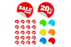 Check out Red sticker by robuart on Creative Market