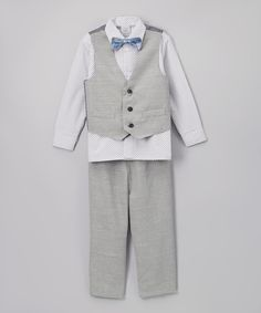 Another great find on #zulily! Perry Ellis White Button-Up Set - Infant & Boys by Perry Ellis #zulilyfinds