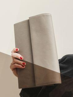TSATSAS — HAZE clutch bag in grey natural calfskin leather. Clutch Bag, Natural, Grey, Leather, Bags, Collection, Fashion, Gray, Handbags