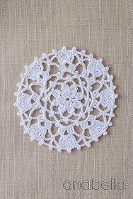 Anabelia craft design: Crochet doilies and lace motifs Crochet Circles, Crochet Mandala, Crochet Motif, Crochet Doilies, Crochet Flowers, Crochet Stitches, Free Crochet, Knit Crochet, Crochet Patterns