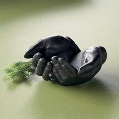 open hands sculpture