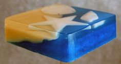 Beach Soap, Glycerin Soap, Melt and Pour Soap, Ocean Bath Decor, Seashell Soap, Sand and Sea, Tide Pool Soap, Artisan Soap, Palm Free Soap by CutiePieSoaps on Etsy https://www.etsy.com/listing/130815804/beach-soap-glycerin-soap-melt-and-pour