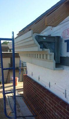 Hobra negra Cladding Design, Roof Truss Design, Exterior Wall Cladding, House Cladding, Facade Design, Facade House, Exterior Design, Classic Architecture, Facade Architecture