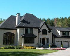 Traditional Exterior Brick + Stucco Design,