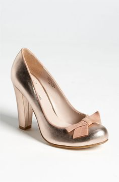 Really love this shoe. Rose gold is different and pretty. Flounce 'Precious' Pump available at #Nordstrom
