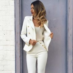 Double Button Slim Long Sleeves OL Short Blazer