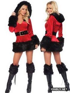 HOTER® Women's Sexy Secret Santa Costume/ Dress Costume - PinBuy