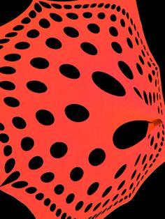 "Schwarzlicht Segel Deko Stretch Spandex ""Mandala Dots Red"" #blacklight #schwarzlicht #neon #spandex #space #mandala #psy #deco"