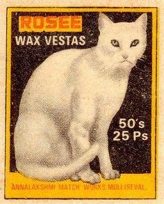 Vintage matchbox label (India)