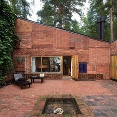 The Muuratsalo Experimental House by ‪‎Alvar Aalto‬ (1953). In this courtyard Aalto tested how different materials (brick, ceramic, marble) performed in Finland's weather.