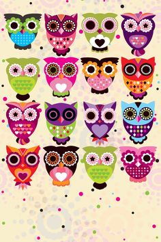 DIY this with printed owl designs! I love owl designs, plus I love real owls. I just want one to fly all over the world and bring me back one owl to have two owls. Cartoon Wallpaper, Owl Wallpaper, Iphone Wallpaper, Desktop Backgrounds, Trendy Wallpaper, Hd Desktop, Owl Always Love You, My Love, Owl Background