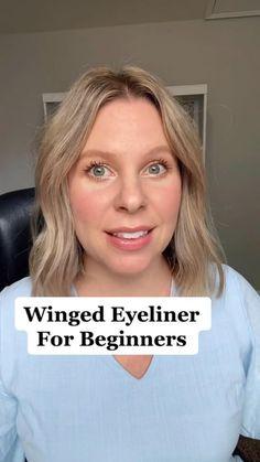 Eyeliner Looks, Gel Eyeliner, Winged Eyeliner, Eyeshadow, Beauty Makeup Tips, Hair Beauty, Beauty Tricks, Beauty Stuff, Makeup Inspo