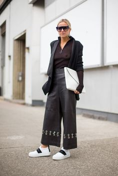 More easy DIY grommet project. So Cool It Hurts: New York Fashion Week Street Style