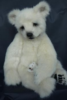 Baby Polar Bear TEDDY BEAR.