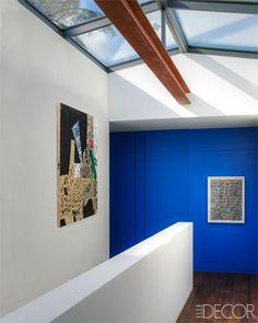 Upstairs hall Yves Klein blue.