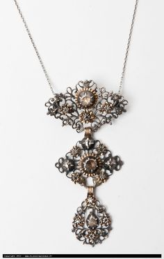 b902eebb4d1ba Northern French and Flemish butterfly cross pendant, gold, silver and  diamonds. Known as a