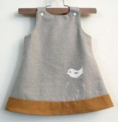 little linen birdy-oo dress