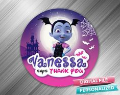 Vampirina Favor Tag - PrintDParty Selling Birthday Invitation and Printable Party Decoration Digital File. Birthday Party Decorations Diy, Birthday Favors, Birthday Parties, Printable Birthday Invitations, Party Printables, Party Favor Tags, Card Stock, Prints, Party Ideas