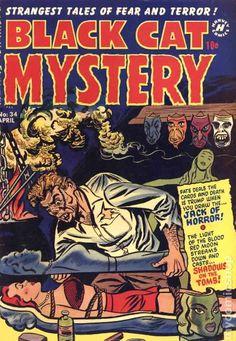 BLACK CAT MYSTERY 34, GOLDEN AGE HARVEY COMICS