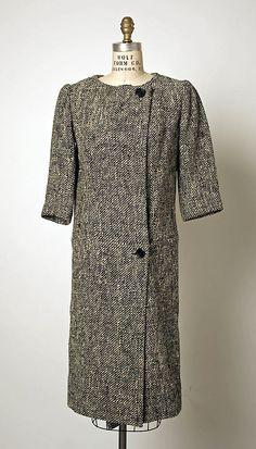 Dress (Coatdress). House of Balenciaga (French, founded 1937). Designer: Cristobal Balenciaga (Spanish, 1895–1972). Date: 1955. Culture: French. Medium: wool.