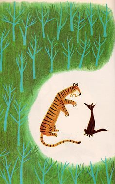 The Tiger, The Brahman, and the Jackal illustrated by Mamoru Funai, 1963.