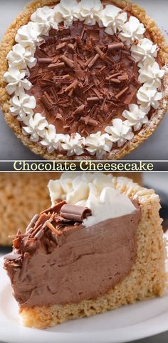 Crispy Rice Cereal Chocolate Cheesecake Best Video Recipe #chocolate #cheesecake #cripsy #rice